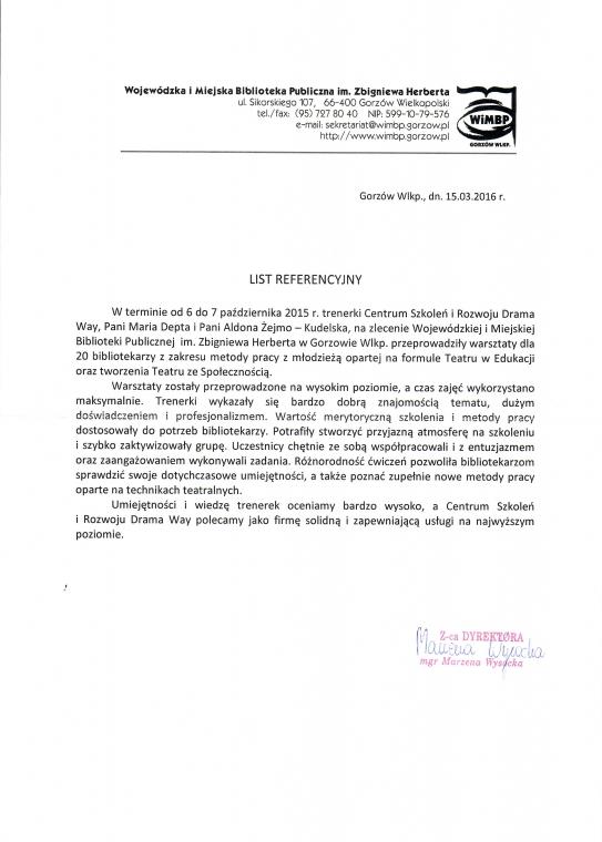 Wojewódzka i Miejska Biblioteka Publiczna w Gorzowie